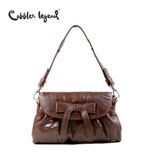 New Design Women Genuine Leather Casual Bow Cross Body Shoulder Bag Girl Vintage Handbags