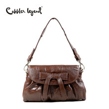 Cobbler Legend Brand Woman Bag 2019 Genuine Leather Casual Bow Cross Body Shoulder Bag Girl Vintage Handbags(China)