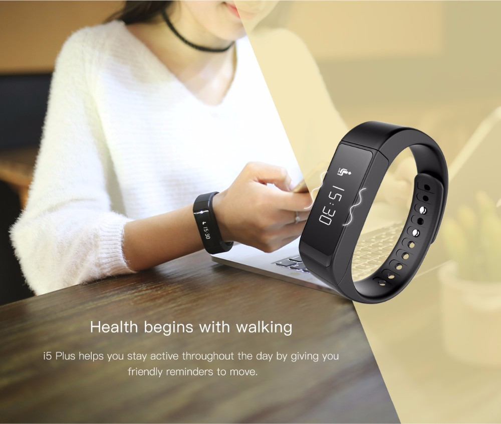 Original Iwown i5 Plus Smart Bracelet Wristband Bluetooth 4.0 Activity Tracker Waterproof SmartBand Passometer Sleep Monitor 9