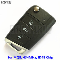 QCONTROL Car Remote Key without Keyless go for SEAT Ibiza Leon Toledo 434MHz ID48 integrated Chip