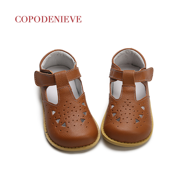 COPODENIEVE Baby Girl Shoes Toddler Girl Shoes For Children's Footwear Princess Hollow  Pink Breathable Hooks Child Shoe