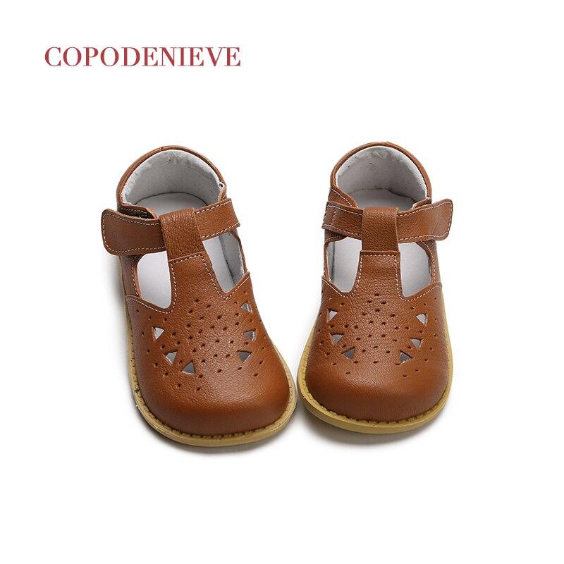 c88b147544 COPODENIEVE Bebê Menina Sapatos Da Criança Menina Sapatos Para Calçados  infantis Princesa Rosa Oca Respirável Ganchos Sapato Criança