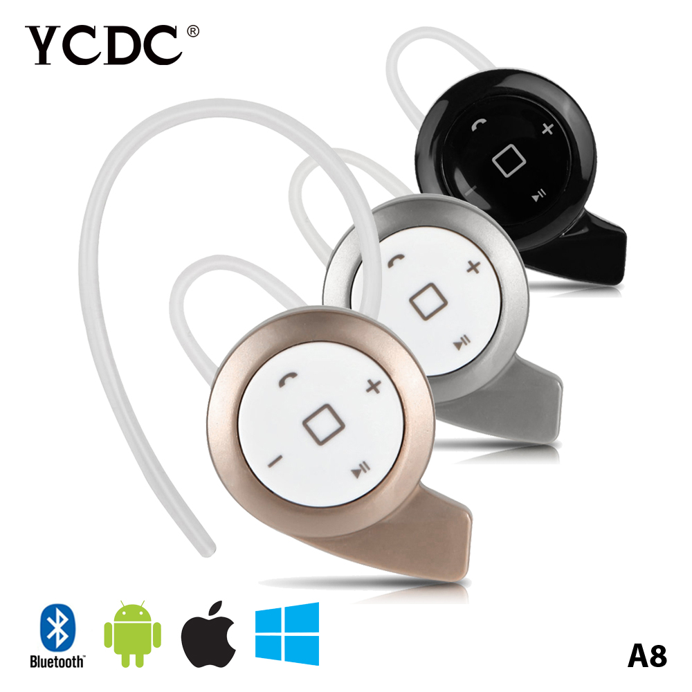 YCDC Earpiece Auriculares Bluetooth Headset Earphone Wireless Headphones Handsfree Ear Phone Earbuds for iPhone Samsung Xiaomi high quality 2016 universal wireless bluetooth headset handsfree earphone for iphone samsung jun22