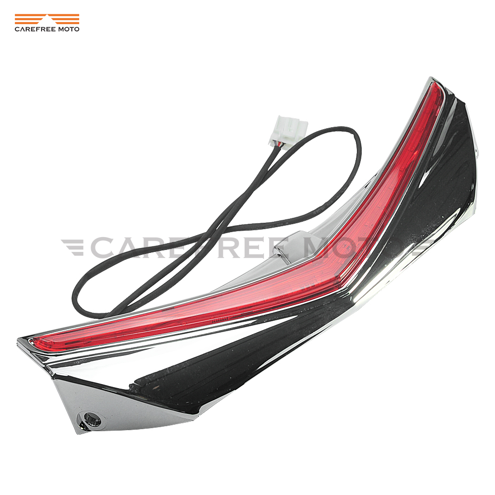 Фотография Chrome Motorcycle LED Rear Fender Tip Light Taillight Case for Honda GL1800 GoldWing F6B 2012 2013 2014 2015 2016