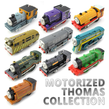 ФОТО t0213 electric thomas and friend james with a carriage trackmaster engine motorized train chinldren child kids plastic toys