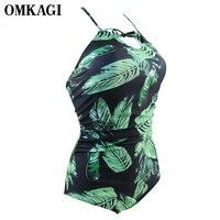 OMKAGI Brand Swimwear Women One Piece Swimsuit Sexy Push Up Bodysuit Swimming Bathing Suit Beachwear Summer