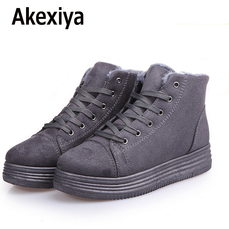 Akexiya Women Winter Boots Suede Warm Platform Snow Ankle Boots Women Casual Shoes Round Toe Sneakers Female Botas Mujer 300 235mm aluminum router table insert plate diy woodworking benches for popular router trimmers models engrving machine