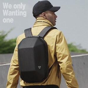 Image 5 - OZUKO Backpack Men Hard Shell Backpack Waterproof Anti Theft Travel Bags Black Creative Alien Casual Laptop Teenage School Boy