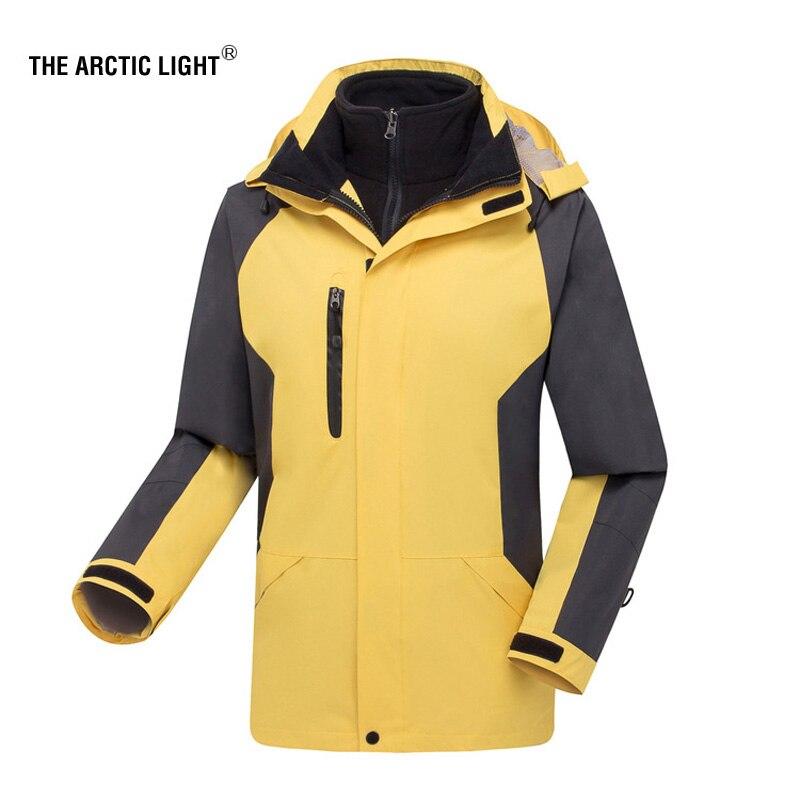 THE ARCTIC LIGHT Hiking Jacket Winter Outdoor Sport Ski Windstopper Waterproof Men Thermal Softshell Fleece Jacket 2 In 1 стоимость