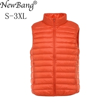NewBang Brand Mens Waistcoat Ultra Light Down Vest Men Lightweight Waterproof Sleeveless White Duck Down Male Slim Gilet