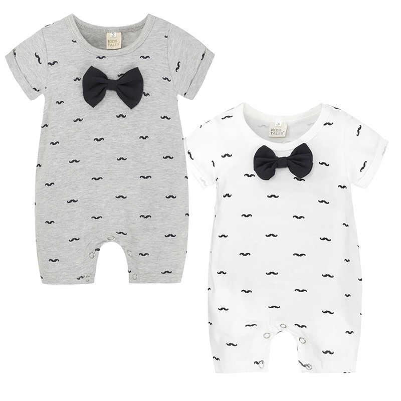 2019 Летний комбинезон для новорожденных; повседневный комбинезон для младенцев с короткими рукавами; одежда для маленьких мальчиков и девочек; костюмы для маленьких мальчиков