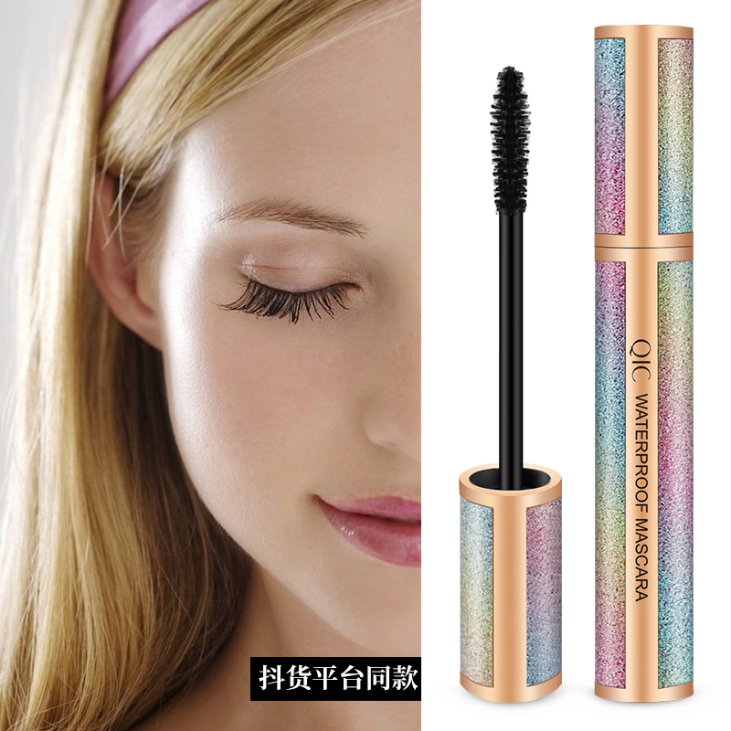 QIC Starry Sky 4D Silk Fiber Lash Mascara Waterproof Rimel 3d Mascara For Eyelash Extension Thick Lengthening Eye Lashes Rimel image