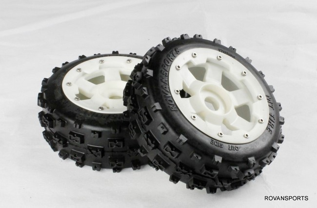 baja front new  knobby tire set with high strength nylon hub  85073 baja front new  knobby tire set 85078