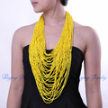 19 Colors 42 layers Resin Beads Cluster Big Long Statement Necklace Top Selling Super Deals Free Shipping Handmade Gift Fashion