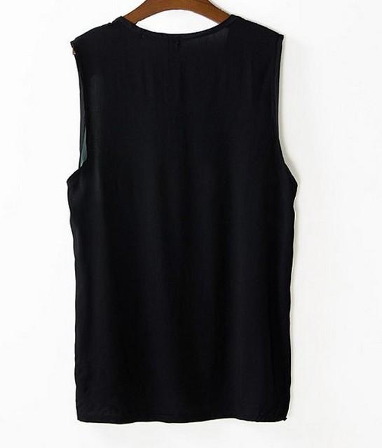 Sleeveless Casual Shirt