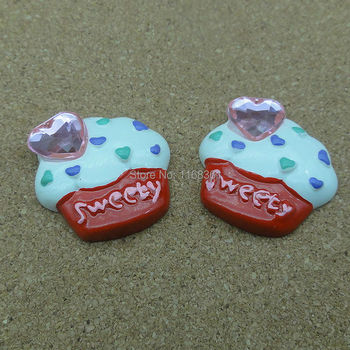 1pcs/lot resin flatback red rhinestone sweety ice 23mm Cabochons Hair Bow Center Card Frame Making Craft DIY B401-6 image