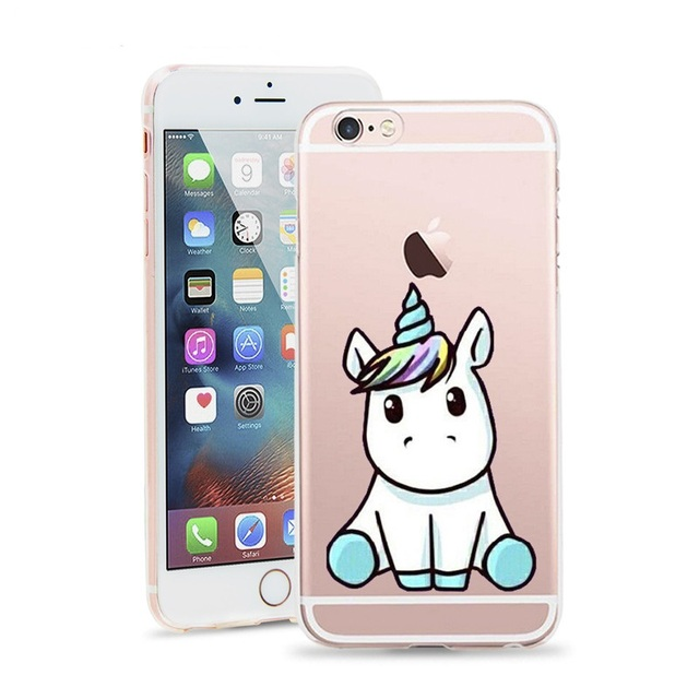 iphone 6 coque silicone licorne