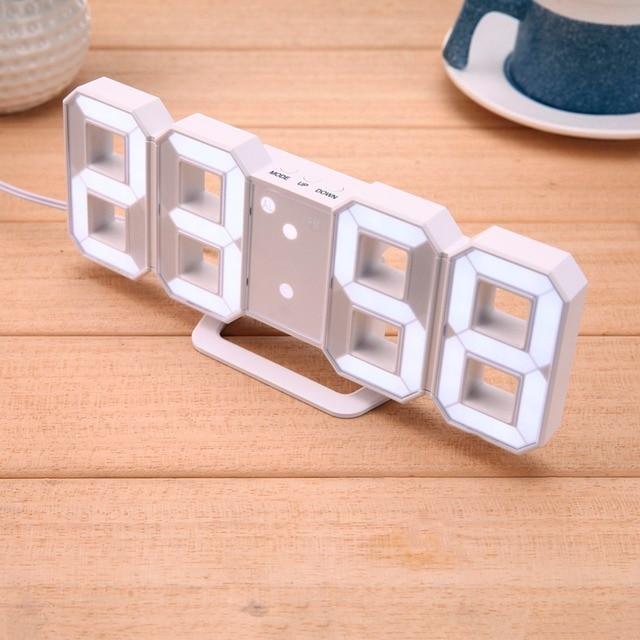 Chenille 8 Form LED Tischuhr Digitalen Wecker Für Kinder Geschenk Moderne  Wohnkultur 3D Digital