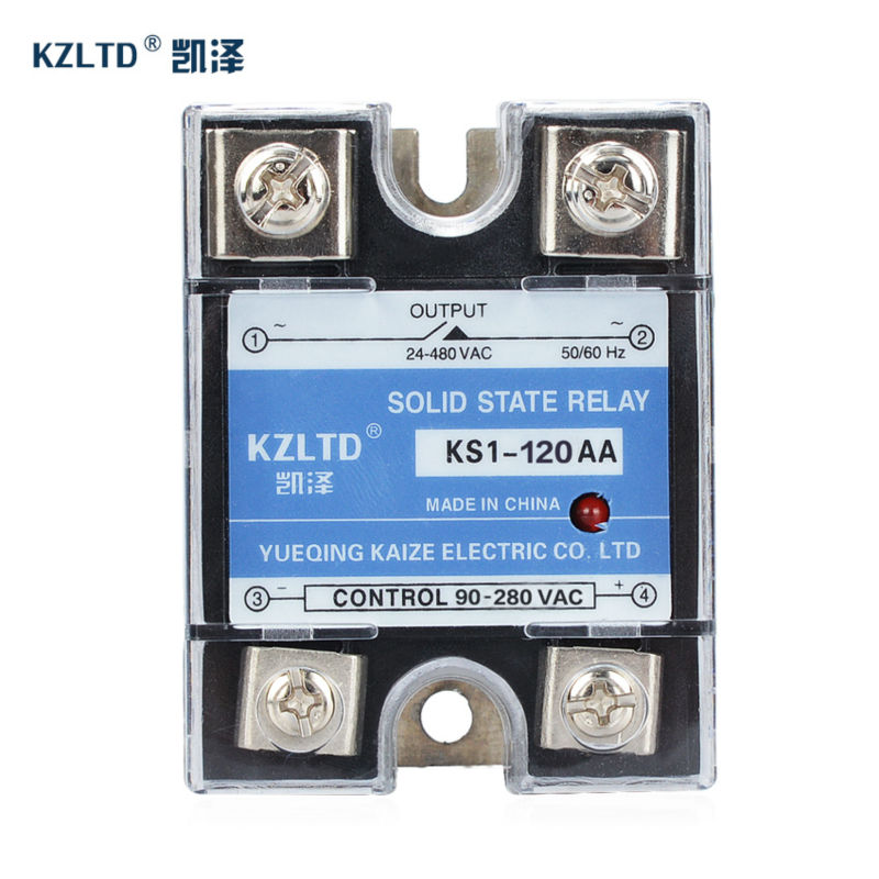 KZLTD SSR-120AA AC Solid State Relay SSR AC-AC Relay Single Phase SSR Solid State Relays 120A Rele Solid Relays 2 Year Warranty