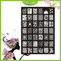10 Unids Nuevo Diseño BQAN Mariposas de Acero Inoxidable/la Serie de Flores/Imágenes de Las Estrellas Brillaban Nail Plate Estampación XY13
