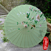 Spring Time Birds Flower Oil Paper Umbrella Travel Outing Beautiful fresh Paper Parasol Student Lady Take Photo Paper Umbrella
