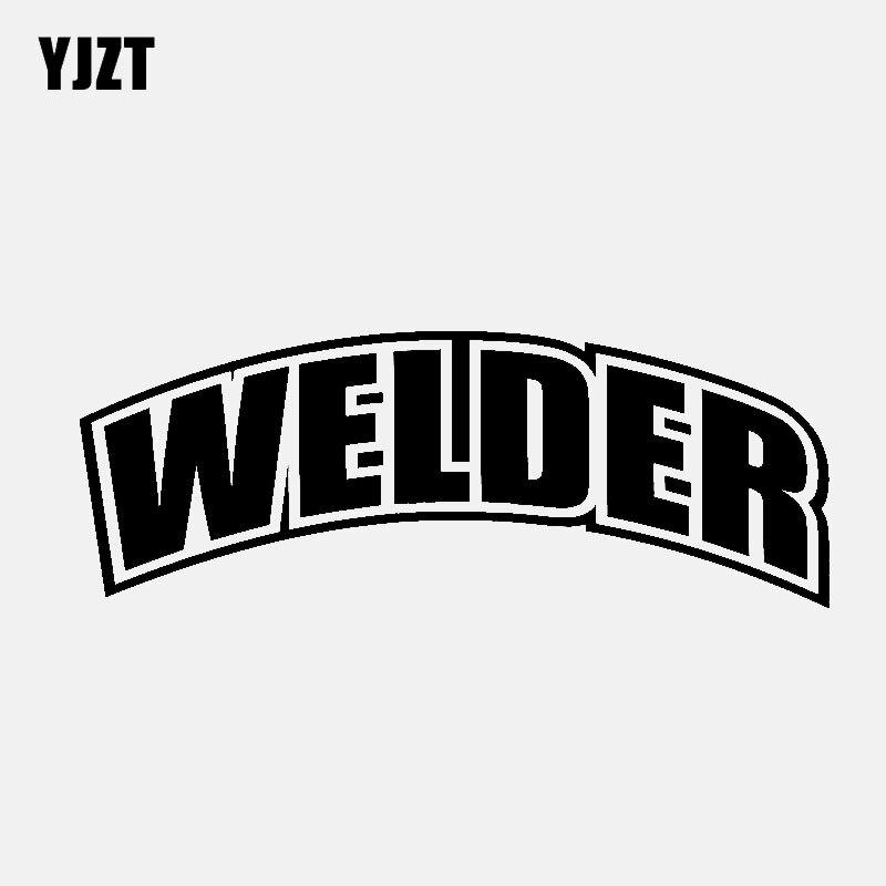 YJZT  14CM*5.2CM WELDER Vinyl Decal Car Sticker Diesel Truck Black/Silver C3-0978