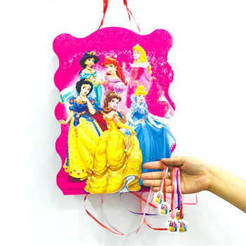 40*30cm Princess Pinata Cartoon Funny Party Supplies Kid Disposable Plastic Children's Birthday Girls Party Favors Decoration image