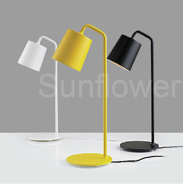 Carbon Steel E14 Table Lamp Light Fashion Creative Bedside Lamp Simple  Modern Bedroom Decor Black White Yellow Color AC 220V in Table Lamps from  Lights. Carbon Steel E14 Table Lamp Light Fashion Creative Bedside Lamp