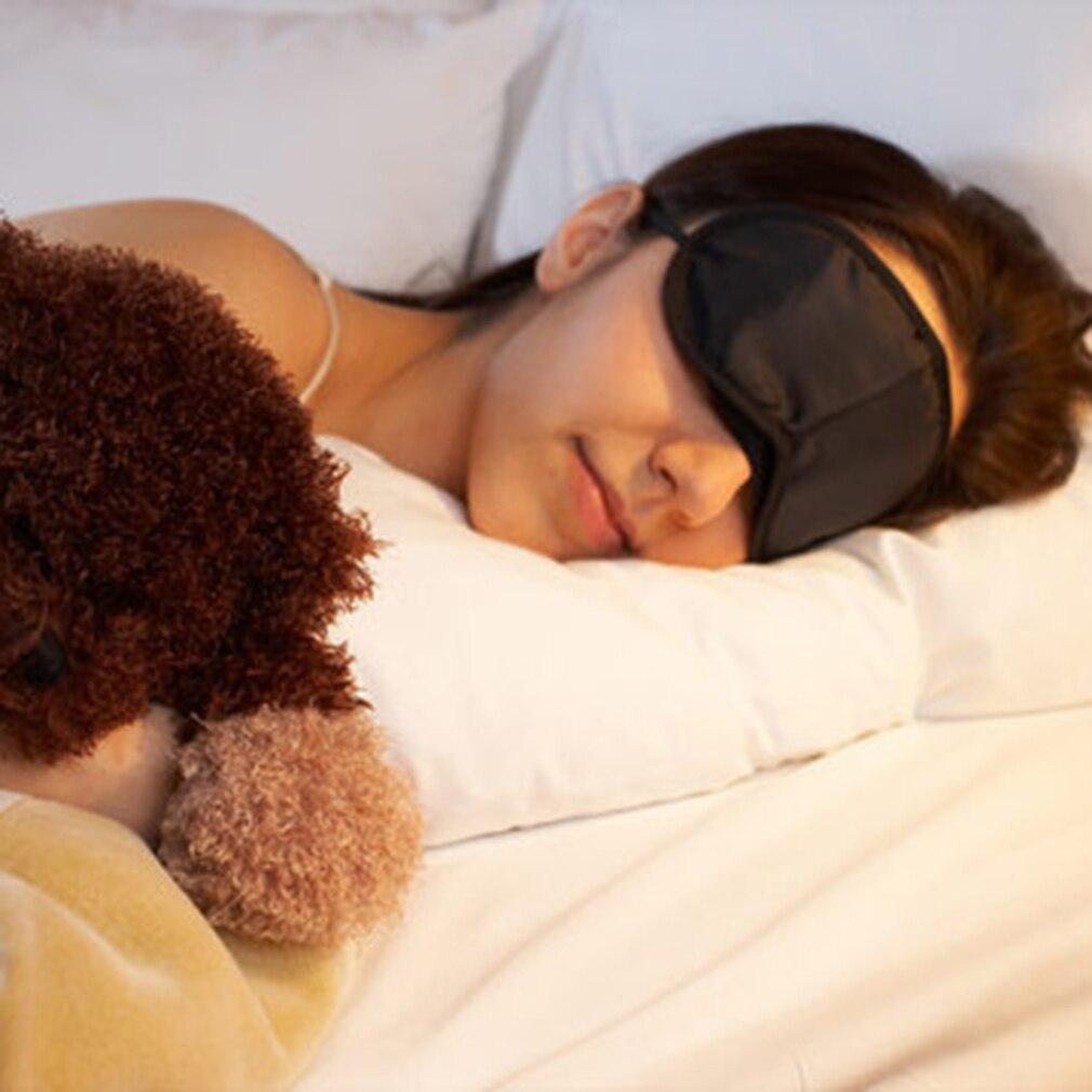 Black Sleeping Eye Mask Blindfold let Travel Sleep gentle comfort Aid Cover Light Soft Material Portable