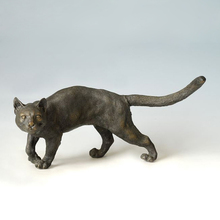 ATLIE BRONZES  bronze statue pet cat figurine Lost Wax method brass bobcats statues sculpture