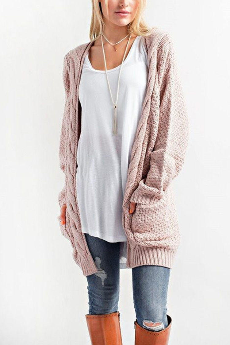 d8bbc8607da LOGAMI Long Cardigan Women Long Sleeve Knitted Sweater Cardigans Autumn  Winter Womens Sweaters 2017 Jersey Mujer Invierno