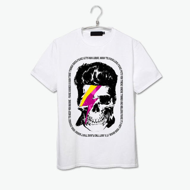 David Bowie Big Skull Pop Art Tee Shirt Short Sleeve New Design T