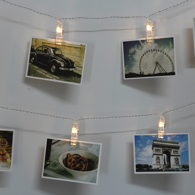 US/EU 10m 100 Bulbs Outdoor Waterproof 2.5cm Clamp String Light Led  Showcase/