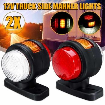 12V samochód ciężarowy LED podwójne światło obrysowe boczne zintegrowane lampy wskaźnikowe do przyczepy ciężarówki RV Bus Caravan tanie i dobre opinie Audew CN (pochodzenie) Turn Signal 12 v 300g