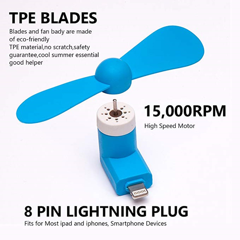 5 pcs Travel Portable Phone Mini Fan Cooling  USB Gadget For iPhone 5 5S 6 6S Plus 7 8 x|Fans| |  - title=