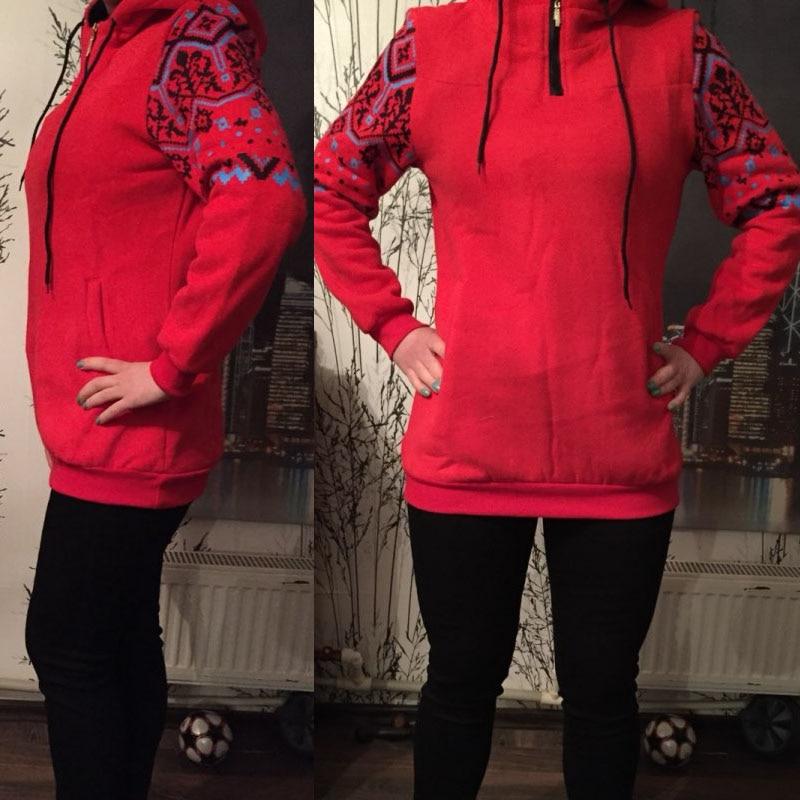 Smiao 2018 Langarm Female Hoodies Herbst Frauen Sweatshirts Dick Plus - Damenbekleidung - Foto 2