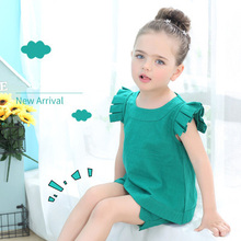 цена на Girls Clothing Sets 2019 New Summer O-Neck Sleeveless T-Shirt+Pants 2 Pcs Kids Clothing Sets Children Clothing 2-7Y