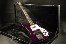 Quality purple Rickenbucker 4003 electric bass guitar  at Musician's Friend Cherry burst  color гитара oem guitar lp lp thin cherry burst