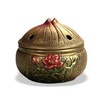 Ceramic Exquiste Lotus CraftS Censer Coil Incense Aroma Burner Home Fragrance Stand Incense Burner Holder Office Ornaments