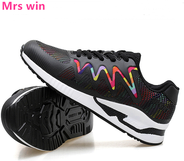 99849f646 Hot Women Running Shoes Outdoor Sports Shoes Anti-skid Trainers Walking  Flats Pink Lace Up Platform Sneakers Zapatillas Mujer