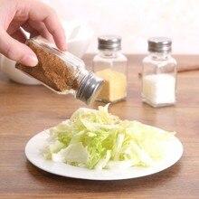 Simple Glass condiment pots, kitchen seasoning bottles 4*4*9.5cm free shipping