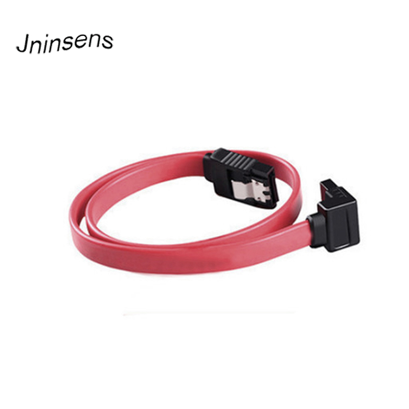 2019 Orange Red 40cm SATA Cable Straight-Right Angle SATA ATA RAID DATA HDD Hard Drive Signal Cable High Quality