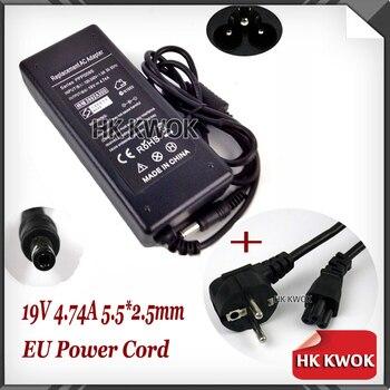 Cable de alimentación de la UE + adaptador cambiador de CA de 19V 4.74A para hp Pavilion N3000 (N5000 ZE1000 ZE1200 ZE4100 ZE4200 ZE4300 ZE4700) Series