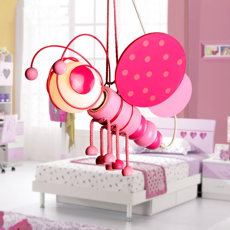 cartoon kidu0027s bedroom bee pink blue ceiling pendant lamp babys room chandelier fixtures