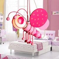 Cartoon Kid's Bedroom Bee Pink Blue Ceiling Pendant Lamp Babys Room Chandelier Fixtures chandelier