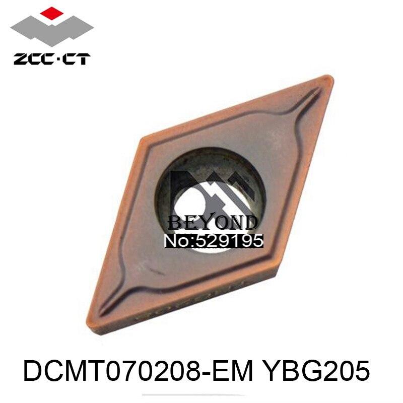 Original ZCC DCMT070208-EM YBG205 DCMT 070208 Carbide Inserts Lathe Cutter Tools Turning Tools CNC 10pcs Tool Utensili Tornio