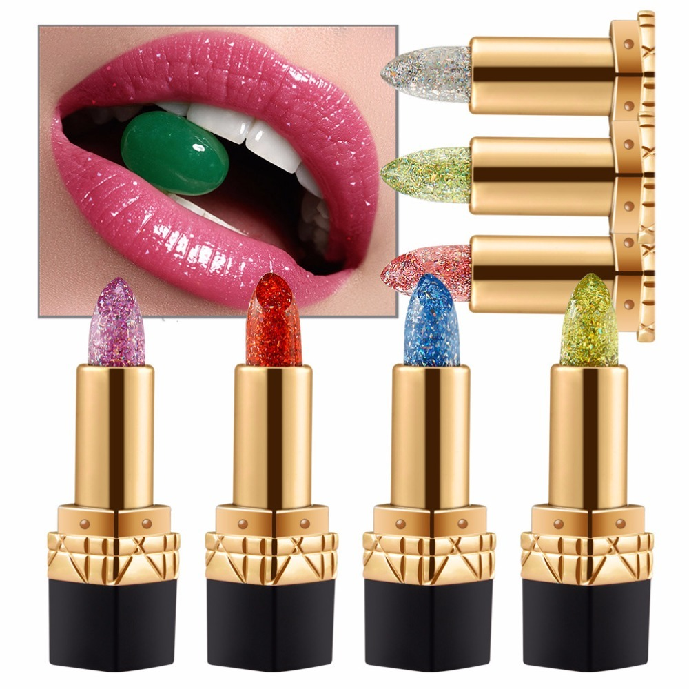Niceface Brand Magic Jelly Temperature Change Moisturizer Bright Diamond Lipstick 7 Colors Nutritous Lip balm Cosmetic Lips image