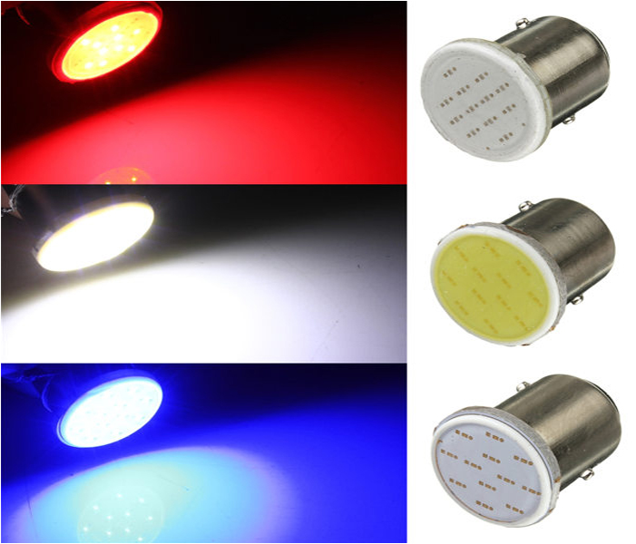 1157 BAY15D 12 SMD LED COB White/Red/Blue  Car Auto Brake Parking Lights Lamp Bulb DC12V Super Bright High Quality