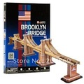 CubicFun 3D puzzle paper Building model toy C107H simulation Brooklyn Bridge the United States of America free shipping