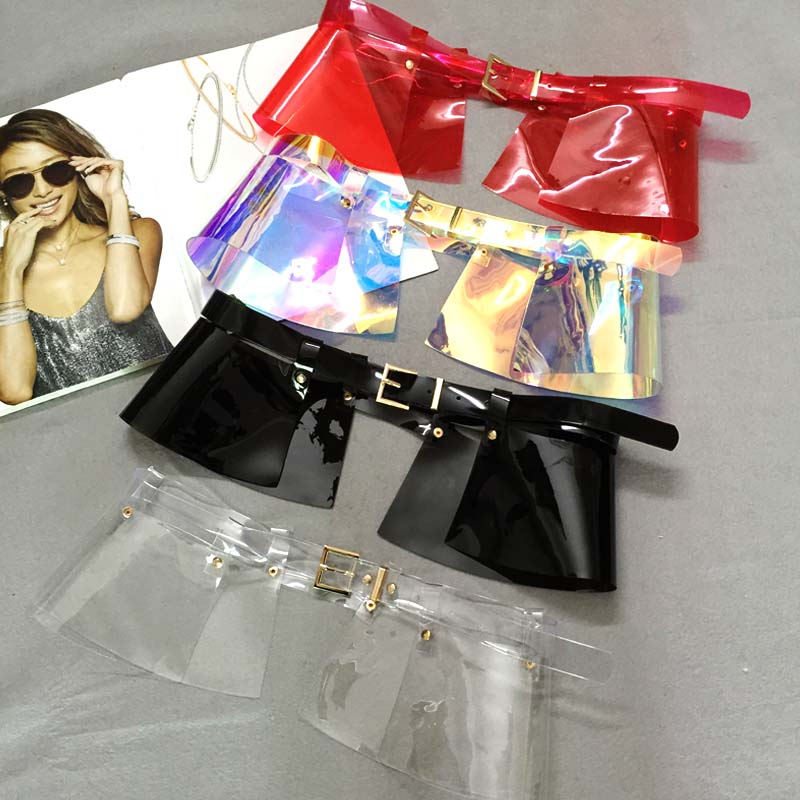 New Women Leather waistband skirt wide belt accessories color pvc corset removable design dual-use Strap Waist belt Girl Clothe